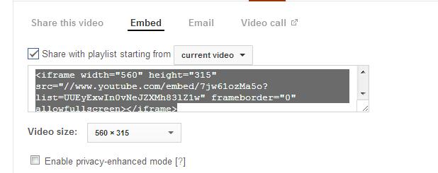 YouTube Embed Box